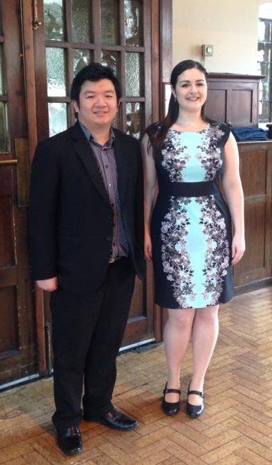 Naomi Hickman with Bernard Tan (pianist)