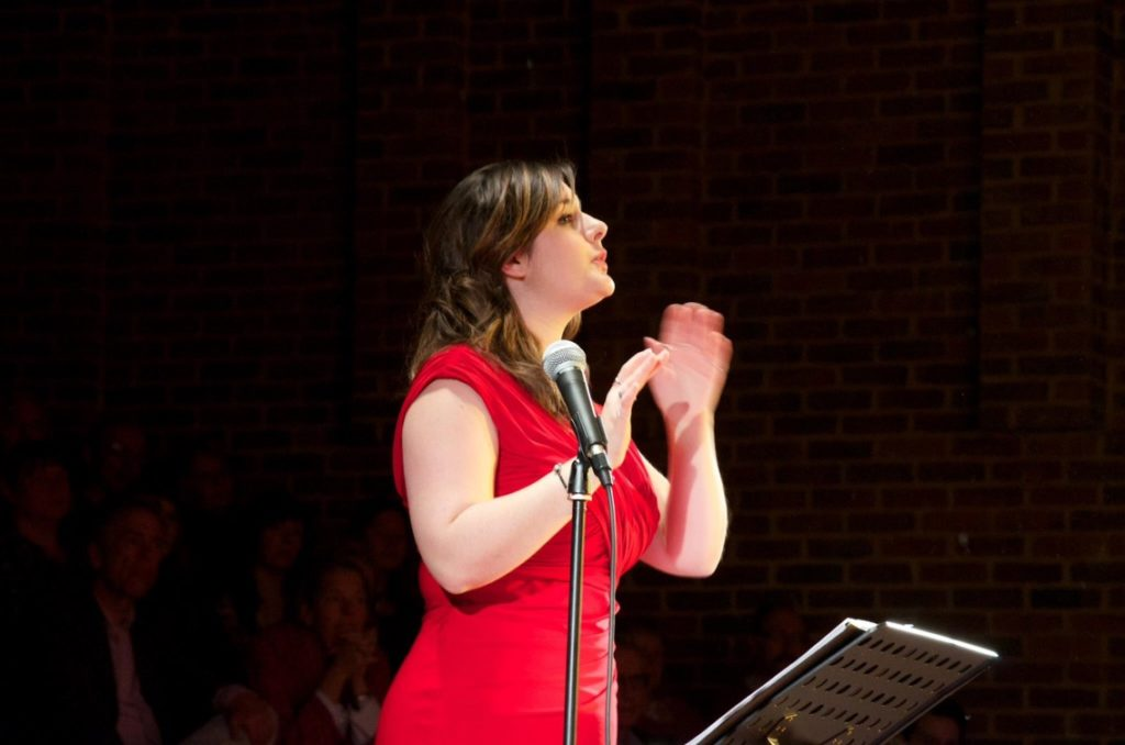 Conducting Jazzmanix choir